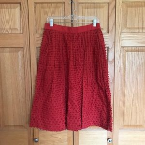 J.Crew Midi Skirt in Clip-Dot Cotton